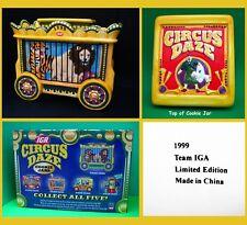 IGA 1999 *** Circus Daze Lion & Tiger Train Car Ceramic Cookie Jar NIB