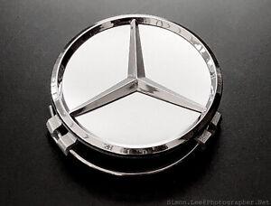 4 New Mercedes Benz A E C Class Alloy Wheel Hub Caps 75mm  Silver Tristar NEW UK