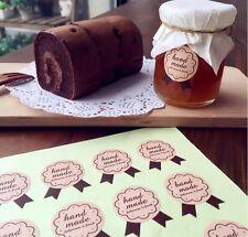 "20 ''Handmade"" Sticker Jar Labels Seal Decor Gift Presents Jam Preserve Pickle"