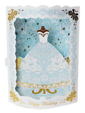 Sparkling Bridal Dress Wedding Pop Up Greeting Card
