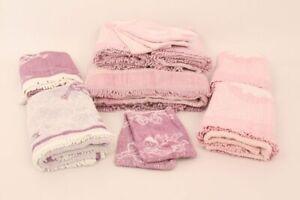 Handtücher Duschtuch Gästetücher Waschlappen rosa lila Baumwolle unbenutzt