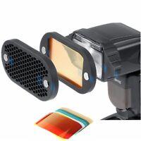 Selens Speedlite Flash Magnetic Honeycomb Grid Filter Kit Fr Yongnuo Canon Nikon
