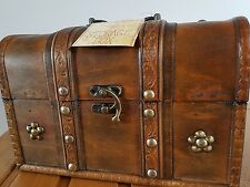 wood storage treasure chest wooden vintage box sewing organiser jewellery bits