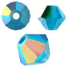 Swarovski Crystal Bicone. Caribean Blue Opal AB Color. 4mm. Approx. 144 PCS.5328