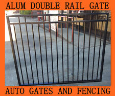 Aluminium Double Rail Black  Pool Gate/Driveway Gate