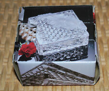 """Home Beautiful Crystal / Glass 2PC Jewelry Dish 3"""" Square Wedding Christmas Gift"""