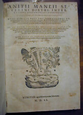 INTER LATINOS ARISTOTELIS INTERPRETES A.M.S BOETHI 1551