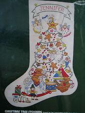 "Crewel Stitchery Dimensions Holiday Stocking KIT,CHRISTMAS TREE,8041,Rigg,18"""