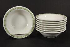NOS Restaurant Ware Buffalo China OAKBROOKE 8 Rimmed Soup Bowls Green Border