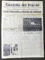 Giornale Gazzetta del Popolo N. 275 - Duce inaugura Mostra del Minerale - 1938