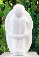 Steinfigur Single Weiss Skulptur Moderne Gartendeko Gartenfigur Dekofigur Statue