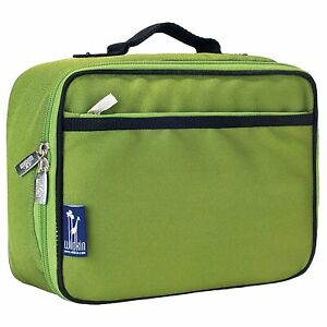 Wildkin Lunch Box, Insulated, Moisture Resistant, Parrot Green - NEW