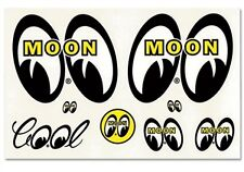 Mooneyes Adesivo Pack occhi COOL Moon Adesivi Decalcomania VW BEETLE Hotrod American