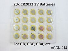 20 Replacement Battery - Game Boy, Gameboy Color CR2032 Tabbed Tab GB GBC US