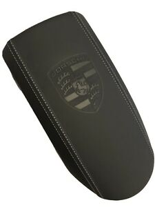 PORSCHE 911 996  Abdeckung Mittelkonsole Armlehne Leder schwarz