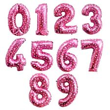 """32"""" Giant Foil Balloons Number Shape Helium Wedding Birthday Decor Party Supply"""