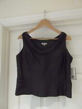 GOLD by Michael H Grey Bustier Top NWT Occasion Wear 100% Silk Yarn UK Size 10