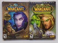 World of Warcraft PC Blizzard Video Game with Burning Crusade Expansion Pack VG