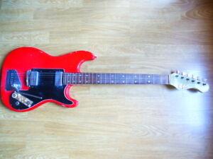 """Alte E-Gitarre Höfner """"172"""" rot Hofner E-Guitar"""