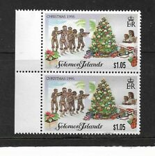 1995 Solomon Islands - Christmas Issue - Vertical Pair - MNH..