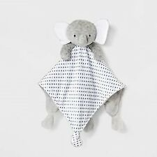 NWT Carters Just One You Grey White Triangles Elephant Baby Security Blanket Toy