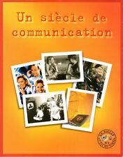 BLOC 2001 N°3 TIMBRES UN SIÈCLE DE COMMUNICATION AVEC FEUILLET D'ORIGINE NEUF