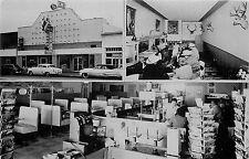 DEMING NM WHITE HOUSE CAFE & BAR VIEWS POSTCARD RACKS 1956 CHROME P/C