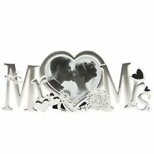 Mr And Mrs Photo Frame Silver Plated Wedding Day Anniversary Gift Keepsake