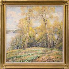 NATURALIST ALGOT VICTOR RINGSTRÖM (SWE, 1876–1956) »BIRKEN AM UFER« 82 × 82 cm
