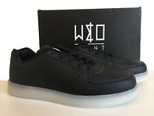 WIZE & OPE BLACK THE LIGHT LED TRAINERS SIZE 7.5
