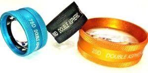 conjunto de tres lentes de oftalmología 20D, 90D & 78D Envío mundial disponible
