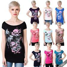 Kurzarm Damen-Shirts mit U-Ausschnitt