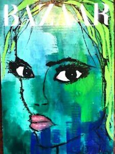 Sexy Portrait Cardboard Painting SWARTZMILLER DNA SIGNED Pop Art Wall14x20 COA