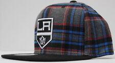 NHL Los Angeles Kings Mitchell & Ness Shield Logo Snapback - Plaid/Black