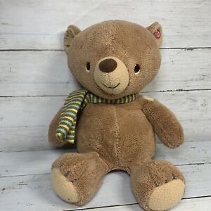 Hallmark Interactive Story Buddy 2 Teddy Bear Green Blue Brown Scarf