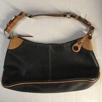 Dooney & Bourke! All Weather Leather 2 ~ Shoulder / Hand Bag ~ Black & Tan Purse