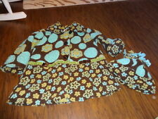 BOUTIQUE CORKY & COMPANY 4T BROWN BLUE GREEN FLORAL COAT AND SM HAT