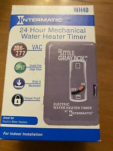 NEW Intermatic WH40 208-277 VAC DPST 24 Hour Mechanical Water Heater Timer seal