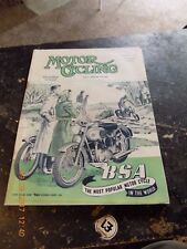 Motor Cycling/11sept1952/Manx GP/ New Triumph Twins for 1953 /Egan/BSA Cover