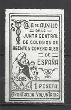4936-SELLO FISCAL GUERRA CIVIL JUNTA CENTRAL 1 PESETA CAJA DE AUXILIO BENEFICO A