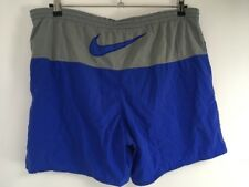 Men's VTG 90s Nike Blue White Swim Trunks Shorts Mesh Line Boardshorts Sz M