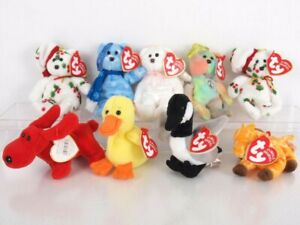 Ty Jingle Beanies Ornaments Lot of 12 Teenie Babies Christmas Animals Plush