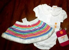 Knit Skirt Outfit Gymboree 3pc Tights Top Cotton Girl size 6-12 month New