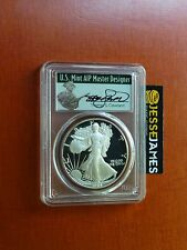 1986 S PROOF SILVER EAGLE PCGS PR70 DCAM VERY RARE THOMAS CLEVELAND SIGNED LABEL