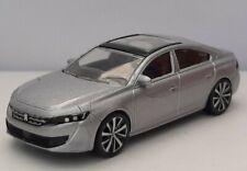 Norev 3 inches 1/64 . Peugeot 508 2019 gris  métal Neuf.  SANS BOITE