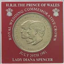 1981 Prince of Wales & Lady Diana Spencer crown  UNCIRCULATED  Red Surround