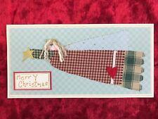 Handmade Christmas Card Angel Xmas Cabin Rustic American Folk Art Husband Wife