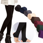 Women Slim Thermal Thick Warm Fleece Lined Winter Tight Pencil Leggings Pants