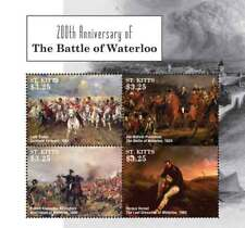 SAINT KITTS 2015 - BATTLE OF WATERLOO 200TH ANNIVERSARY SHEET OF 4 STAMPS MNH
