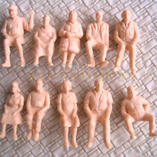 30 Stück Unlackierte Figuren Sitzende Passagiere 1:48 Personen Alle sitzen